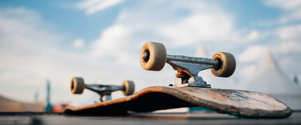Skateboard Turned Over